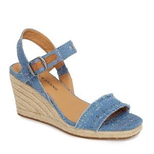 LUCKY BRAND | MARCELINE CONFETTI WEDGE SANDALS